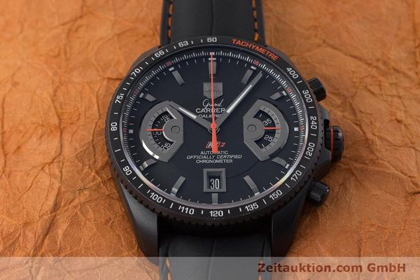 Used luxury watch Tag Heuer Carrera chronograph titanium automatic Kal. 17 ETA 2894-2 Ref. CAV518K  | 161159 16