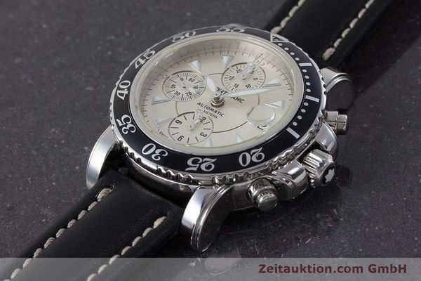Used luxury watch Montblanc Sport Chronograph chronograph steel automatic Kal. 4810501 ETA 7750 Ref. 7034  | 161167 01