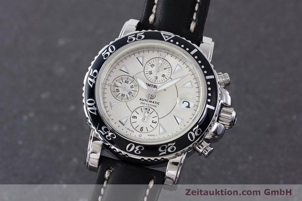 Used luxury watch Montblanc Sport Chronograph chronograph steel automatic Kal. 4810501 ETA 7750 Ref. 7034  | 161167 04