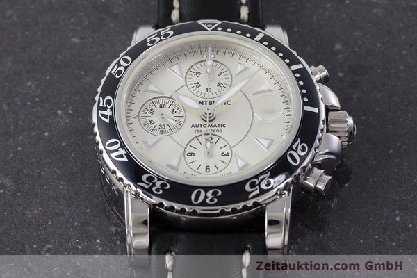 Used luxury watch Montblanc Sport Chronograph chronograph steel automatic Kal. 4810501 ETA 7750 Ref. 7034  | 161167 15