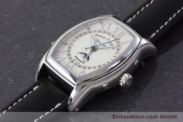 Used luxury watch Maurice Lacroix Masterpiece steel automatic Kal. ML37 ETA2824-2 Ref. MP6439  | 161173 01