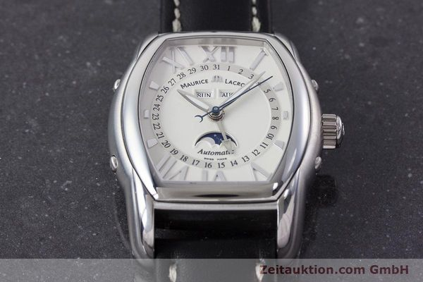 Used luxury watch Maurice Lacroix Masterpiece steel automatic Kal. ML37 ETA2824-2 Ref. MP6439  | 161173 13