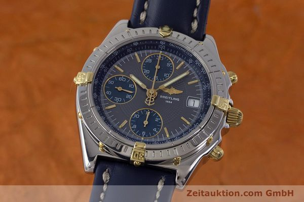 Used luxury watch Breitling Chronomat chronograph steel / gold automatic Kal. B13 ETA 7750 Ref. B13050.1  | 161174 04