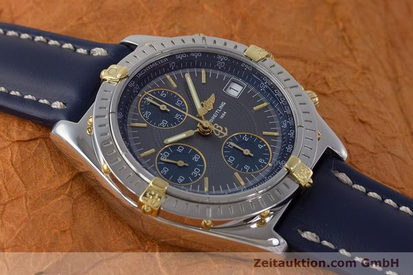 Used luxury watch Breitling Chronomat chronograph steel / gold automatic Kal. B13 ETA 7750 Ref. B13050.1  | 161174 14