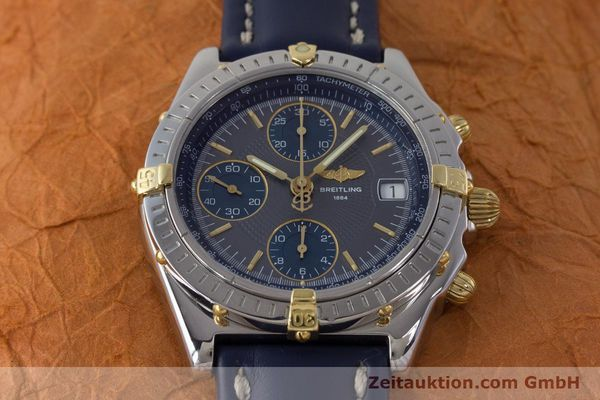 Used luxury watch Breitling Chronomat chronograph steel / gold automatic Kal. B13 ETA 7750 Ref. B13050.1  | 161174 15