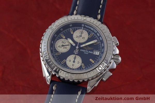 Used luxury watch Breitling Shark chronograph steel automatic Kal. B13 ETA 7750 Ref. A13051  | 161176 04