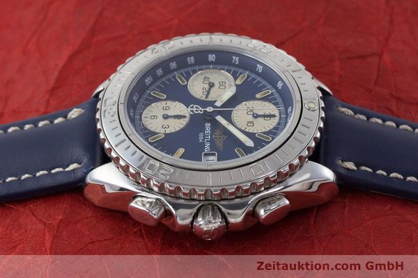 Used luxury watch Breitling Shark chronograph steel automatic Kal. B13 ETA 7750 Ref. A13051  | 161176 05