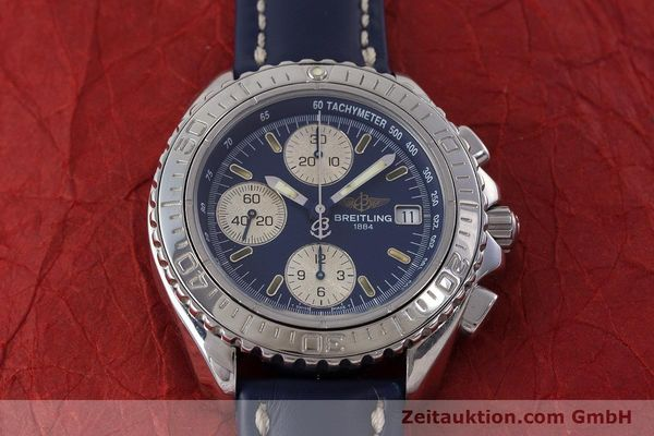 Used luxury watch Breitling Shark chronograph steel automatic Kal. B13 ETA 7750 Ref. A13051  | 161176 13