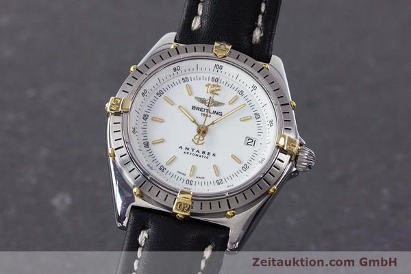 Used luxury watch Breitling Antares steel / gold automatic Kal. B10 ETA 2892-2 Ref. B10047  | 161178 04