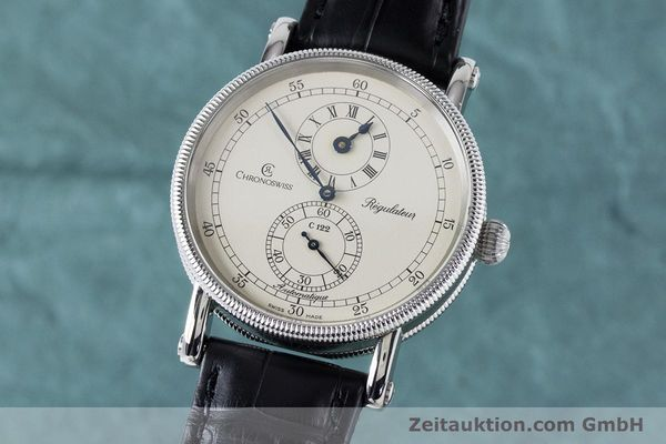 CHRONOSWISS REGULATEUR EDELSTAHL AUTOMATIK CH1223 GLASBODEN VP: 5200,- EURO [161187]