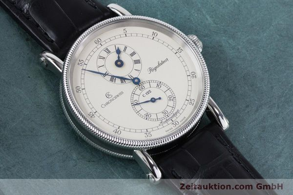 Used luxury watch Chronoswiss Regulateur steel automatic Kal. 122 Ref. CH1223  | 161187 15