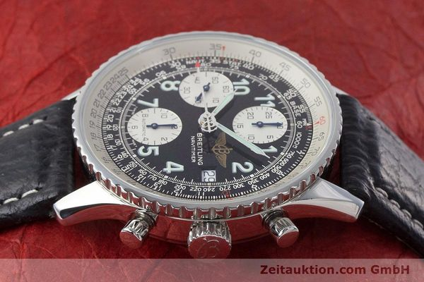 Used luxury watch Breitling Navitimer chronograph steel automatic Kal. B13 ETA 7750 Ref. A13022.1  | 161191 05