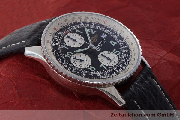Used luxury watch Breitling Navitimer chronograph steel automatic Kal. B13 ETA 7750 Ref. A13022.1  | 161191 14
