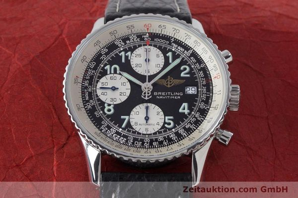 Used luxury watch Breitling Navitimer chronograph steel automatic Kal. B13 ETA 7750 Ref. A13022.1  | 161191 15