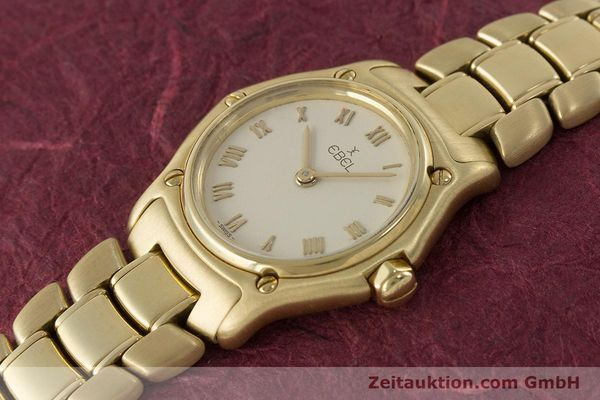 Used luxury watch Ebel 1911 18 ct gold quartz Kal. 57 Ref. 8057901  | 161204 01