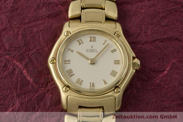 Used luxury watch Ebel 1911 18 ct gold quartz Kal. 57 Ref. 8057901  | 161204 14