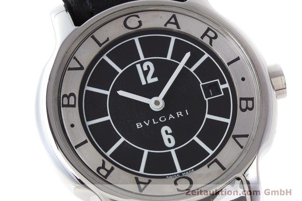 Used luxury watch Bvlgari Solotempo steel quartz Kal. MVE001 MBBL Ref. ST29S  | 161205 02