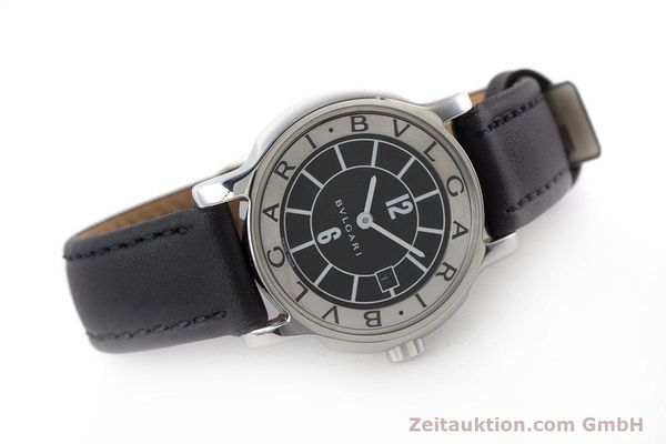Used luxury watch Bvlgari Solotempo steel quartz Kal. MVE001 MBBL Ref. ST29S  | 161205 03