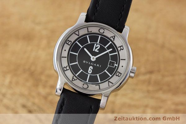 Used luxury watch Bvlgari Solotempo steel quartz Kal. MVE001 MBBL Ref. ST29S  | 161205 04