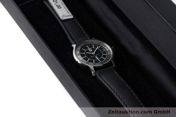 Used luxury watch Bvlgari Solotempo steel quartz Kal. MVE001 MBBL Ref. ST29S  | 161205 07