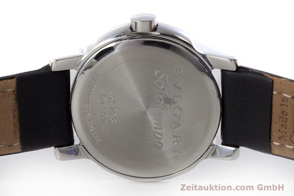 Used luxury watch Bvlgari Solotempo steel quartz Kal. MVE001 MBBL Ref. ST29S  | 161205 09