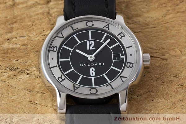 Used luxury watch Bvlgari Solotempo steel quartz Kal. MVE001 MBBL Ref. ST29S  | 161205 12