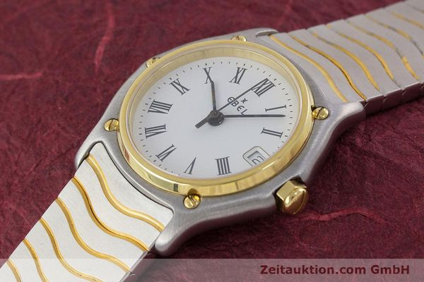 Used luxury watch Ebel Classic Wave steel / gold quartz Kal. 87 Ref. 1087121  | 161206 01