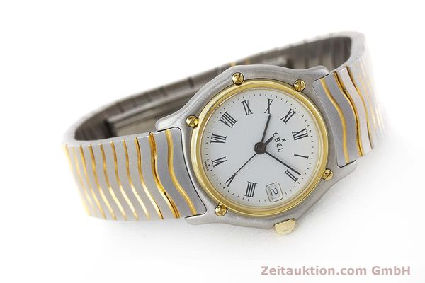 Used luxury watch Ebel Classic Wave steel / gold quartz Kal. 87 Ref. 1087121  | 161206 03
