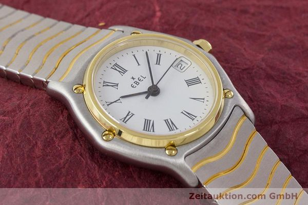 Used luxury watch Ebel Classic Wave steel / gold quartz Kal. 87 Ref. 1087121  | 161206 12