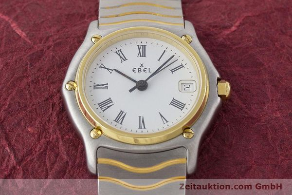Used luxury watch Ebel Classic Wave steel / gold quartz Kal. 87 Ref. 1087121  | 161206 13