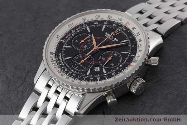 Used luxury watch Breitling Montbrillant chronograph steel automatic Kal. B41 ETA 2892A2 Ref. A41370  | 161207 01