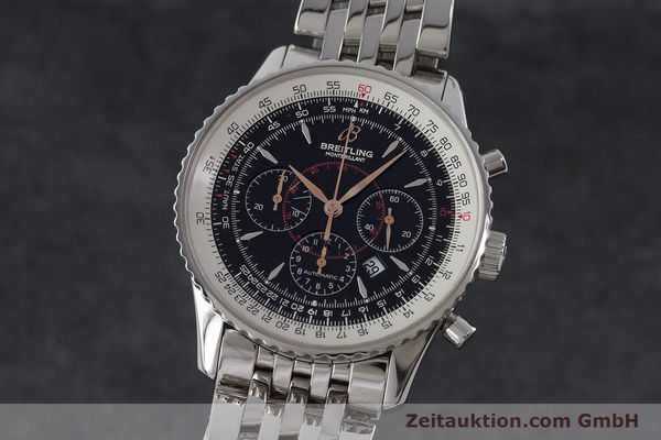 Used luxury watch Breitling Montbrillant chronograph steel automatic Kal. B41 ETA 2892A2 Ref. A41370  | 161207 04