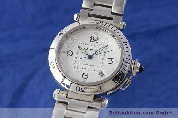 Used luxury watch Cartier Pasha steel automatic Kal. 191 Ref. 2379  | 161208 04
