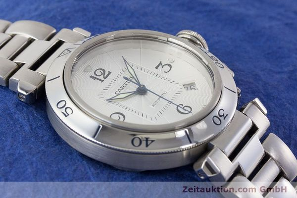 Used luxury watch Cartier Pasha steel automatic Kal. 191 Ref. 2379  | 161208 14