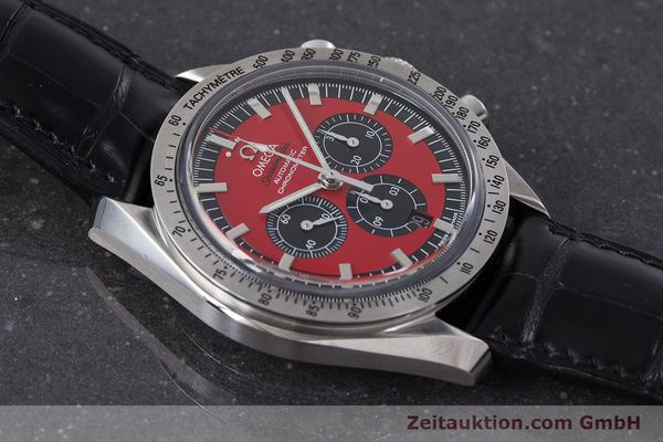Used luxury watch Omega Speedmaster chronograph steel automatic Kal. 3301A Ref. 35066100 LIMITED EDITION | 161212 16