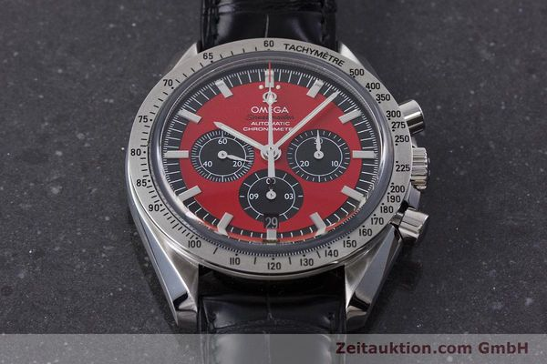 Used luxury watch Omega Speedmaster chronograph steel automatic Kal. 3301A Ref. 35066100 LIMITED EDITION | 161212 17