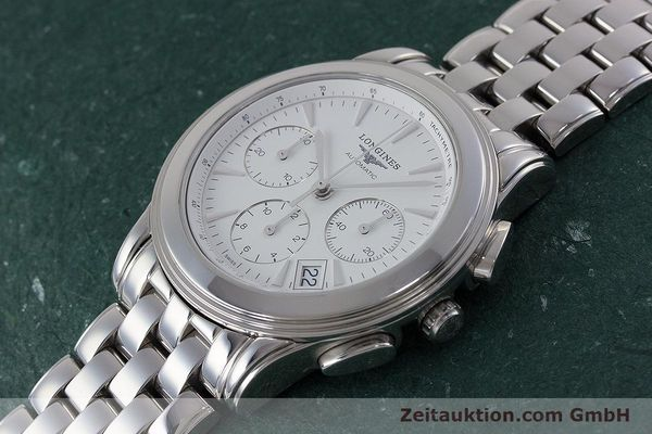 Used luxury watch Longines Flagship chronograph steel automatic Kal. L650.2 Ref. L4.718.4  | 161215 01