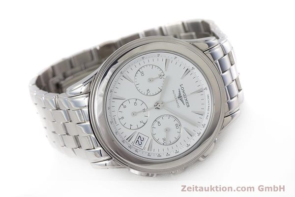 Used luxury watch Longines Flagship chronograph steel automatic Kal. L650.2 Ref. L4.718.4  | 161215 03
