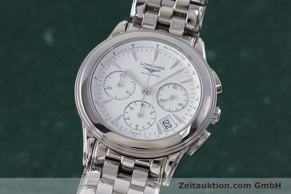 Used luxury watch Longines Flagship chronograph steel automatic Kal. L650.2 Ref. L4.718.4  | 161215 04