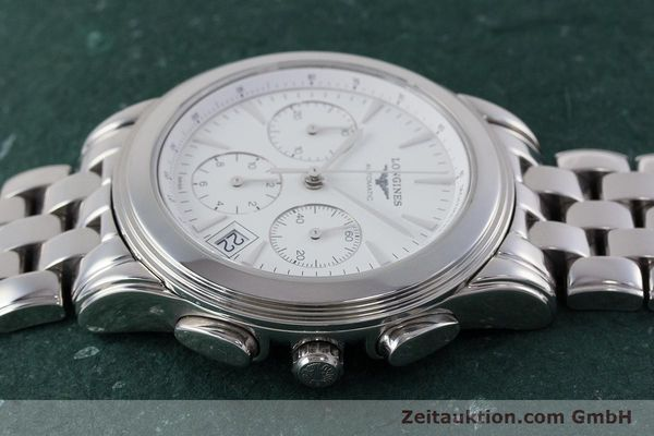 Used luxury watch Longines Flagship chronograph steel automatic Kal. L650.2 Ref. L4.718.4  | 161215 05