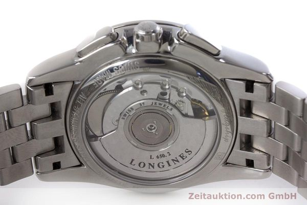 Used luxury watch Longines Flagship chronograph steel automatic Kal. L650.2 Ref. L4.718.4  | 161215 09