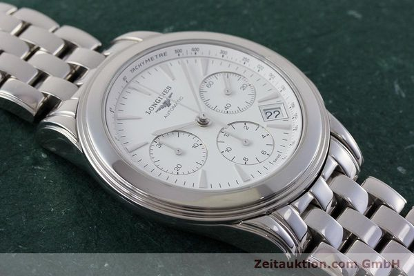 Used luxury watch Longines Flagship chronograph steel automatic Kal. L650.2 Ref. L4.718.4  | 161215 13