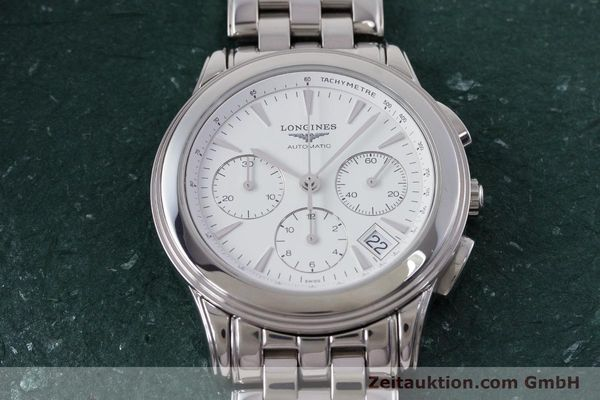 Used luxury watch Longines Flagship chronograph steel automatic Kal. L650.2 Ref. L4.718.4  | 161215 14