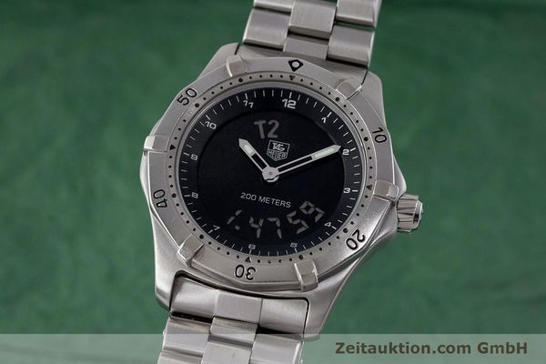 Used luxury watch Tag Heuer Professional chronograph steel quartz Kal. ETA 988432 Ref. WK111A-0  | 161218 04