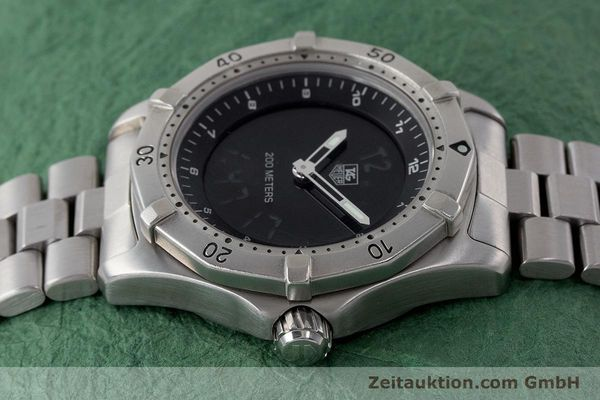 Used luxury watch Tag Heuer Professional chronograph steel quartz Kal. ETA 988432 Ref. WK111A-0  | 161218 05