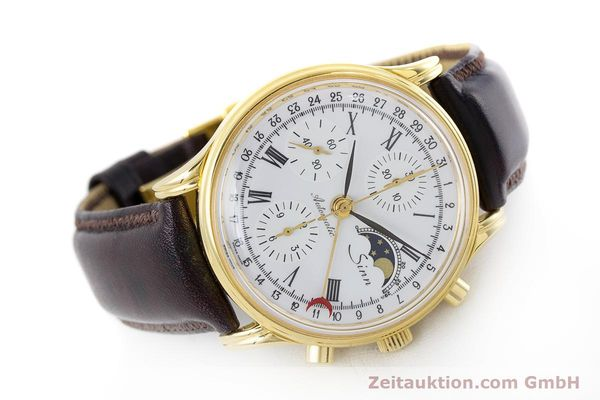 Used luxury watch Sinn * chronograph gold-plated automatic Kal. Val 7750 Ref. 77990  | 161224 03
