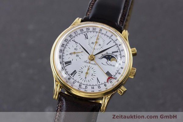 Used luxury watch Sinn * chronograph gold-plated automatic Kal. Val 7750 Ref. 77990  | 161224 04