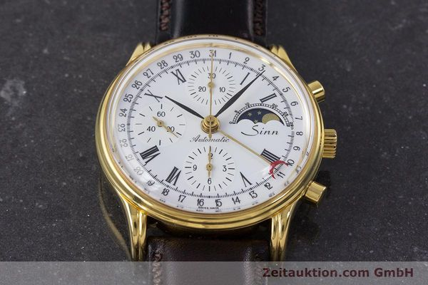Used luxury watch Sinn * chronograph gold-plated automatic Kal. Val 7750 Ref. 77990  | 161224 13