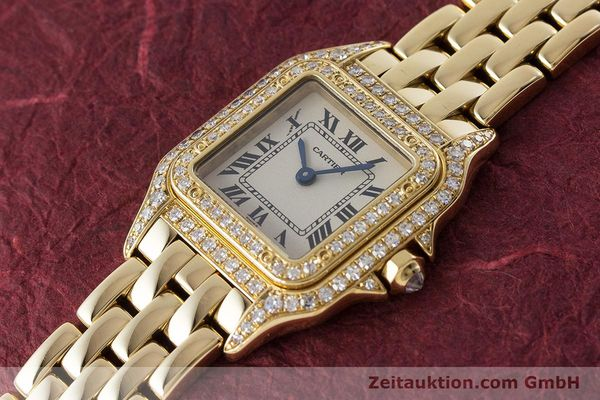 Used luxury watch Cartier Panthere 18 ct gold quartz Kal. 057 Ref. 1280  | 161228 01