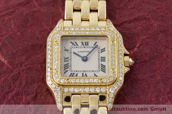 Used luxury watch Cartier Panthere 18 ct gold quartz Kal. 057 Ref. 1280  | 161228 15
